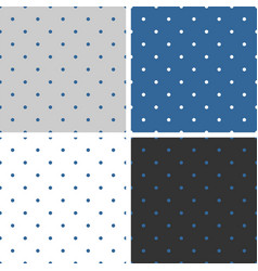 blue background set seamless patterns or textures vector image