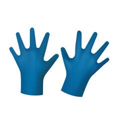 Blue rubber gloves vector