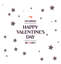 bright sales flyer with stars for valentines day vector image