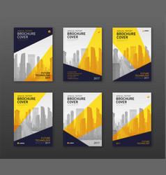 Brochure cover design templates set finance vector