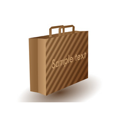 Brown paper bag vector