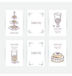 Business card set with candy bar icons in vector image