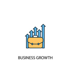 business growth concept 2 colored line icon vector image