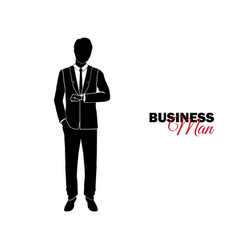 Businessman manager a man in a business suit vector