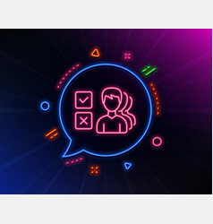 choice line icon select answer sign vector image