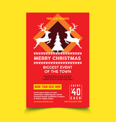 christmas poster template vector image