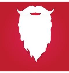 Christmas santa claus beard vector