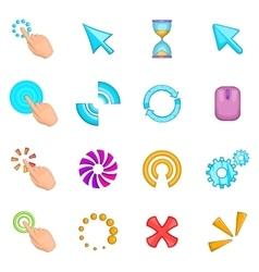 Click cursors icons set cartoon style vector image