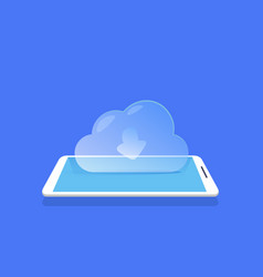 cloud synchronization icon mobile data storage vector image