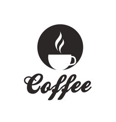 coffee cup of coffee white background image vector image