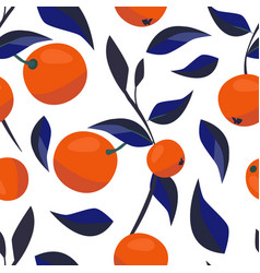 contemporary art pattern juicy oranges and blue vector image