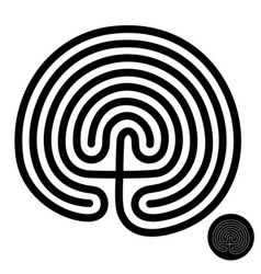 crete traditional symbol cretan labyrinth of vector image