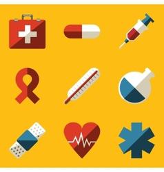 Flat icon set Medical vector image