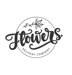 Flowers delivery company logotype template vector