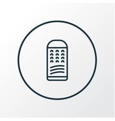 grater icon line symbol premium quality isolated vector image