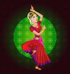 Indian Classical Dance vector image