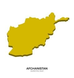 Isometric map afghanistan detailed vector