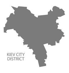 Kiev city district ukraine map grey vector