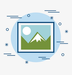 Landscape picture icon vector