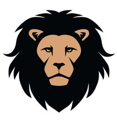 Lion Head Mascot Cartoon vector image