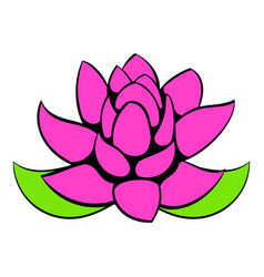 Lotus flower icon cartoon vector