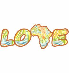 love to wild african zebras vector image