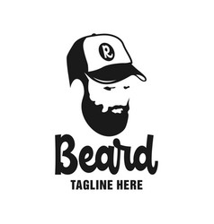 male beard care logo design vector image