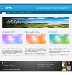 Modern web page template vector image