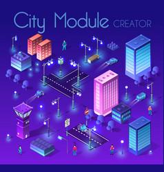 Night cityscape ultraviolet architecture vector