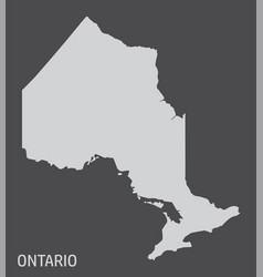 Ontario province map vector
