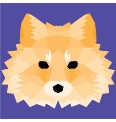 Orange low poly fox vector