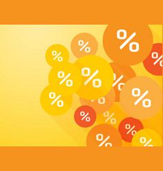 orange mark percent discount summer offer vector image
