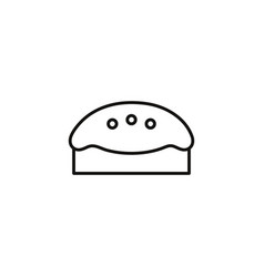 pie cake sweet and candies icon line vector image