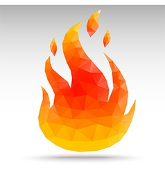 polygonFire vector image