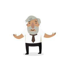 Professor historian cartoon character vector