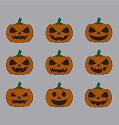 Pumpkins for Halloween set vector