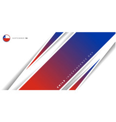 Red blue geometric background design chile vector