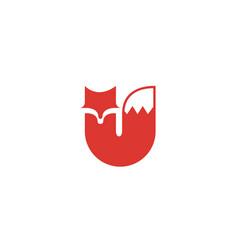 red fox logo vector image