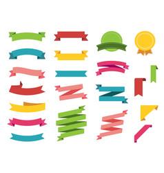 ribbon icon set on white background banner vector image