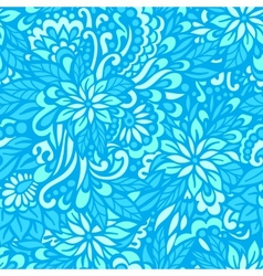 Sea flowers Seamless decorative pattern vector image