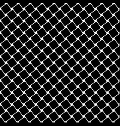 Seamless black and white square pattern - vector