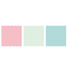 seamless pattern set zig zag background vector image