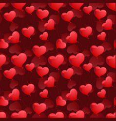seamless pattern with hearts on the background vector image