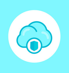 Secure cloud icon in flat style vector