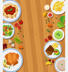 set of meal concept vector image