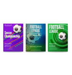 set of tournament posters of football or soccer vector image