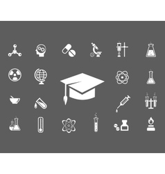 Set of trendy science icons vector