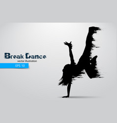 Silhouette of a break dancer vector