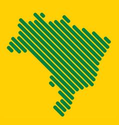Simplicity modern abstract geometry brazil map vector