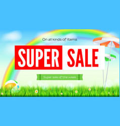 Super sale summer background sale of all items vector